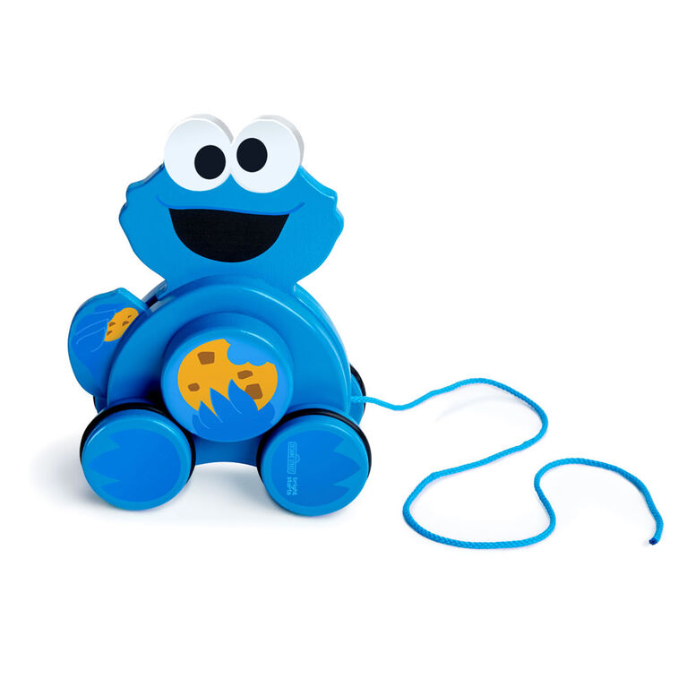 Snack & Stroll Cookie Monster Wooden Pull Toy