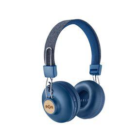 MARLEY POSITIVE VIBRATION2 bluetooth wireless on ear headphones denim