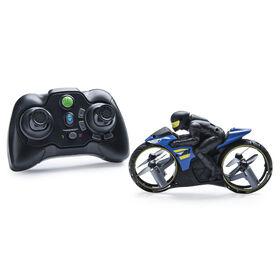 Air Hogs, Flight Rider, Moto de stunt 2-en-1 radiocommandée au sol et dans les airs.