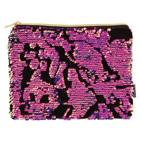 Fashion Angels - Scattered Magic Sequin & Velvet Pouch - Pink, Purple