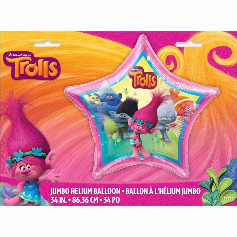 Trolls Ballon Aluminum 34 Po - En Paquet