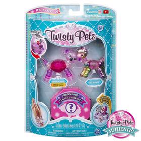 Twisty Petz, Série3, Pack de 3, Coffret de bracelets à collectionner Smoochy Koala, Bo Alpaca et animal surprise, pour les enfants à partir de 4ans