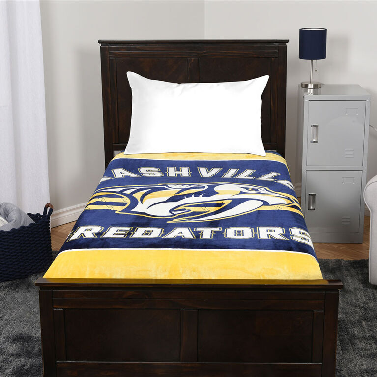 NHL Luxury Velour Blanket - Nashville Predators