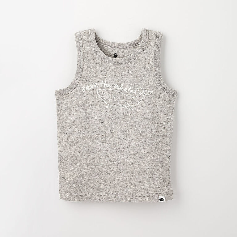 little styler graphic tank, 3-4y -  grey grindle