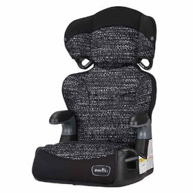 Evenflo Big Kid Amp High Back Belt-Positioning Booster Car Seat - Static Black