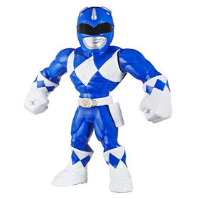 Playskool Heroes: Mega Mighties Power Rangers : figurine Ranger bleu de 25 cm