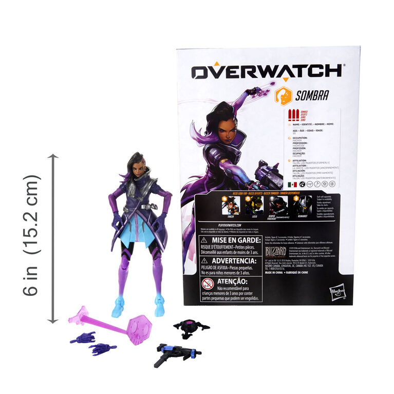 Overwatch Ultimates Series Sombra 6-Inch-Scale Collectible Action Figure