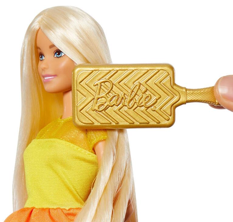 Barbie - Boucles suprêmes - Poupee et coffret de jeu