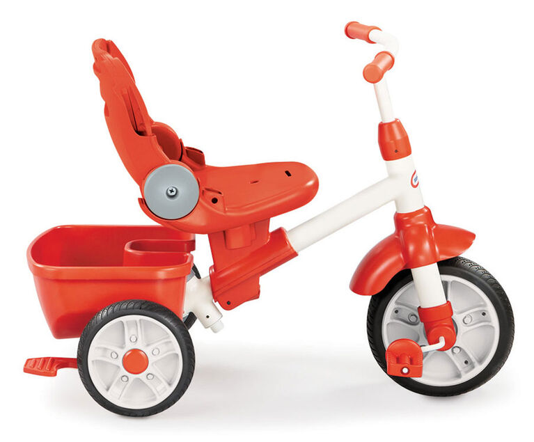Little Tikes - 5-in-1 Deluxe Ride & Relax (Recliner) Trike - Red & Grey