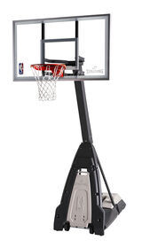 "Spalding 60"" Glass The Beast Screw Jack Portable Hoop System"
