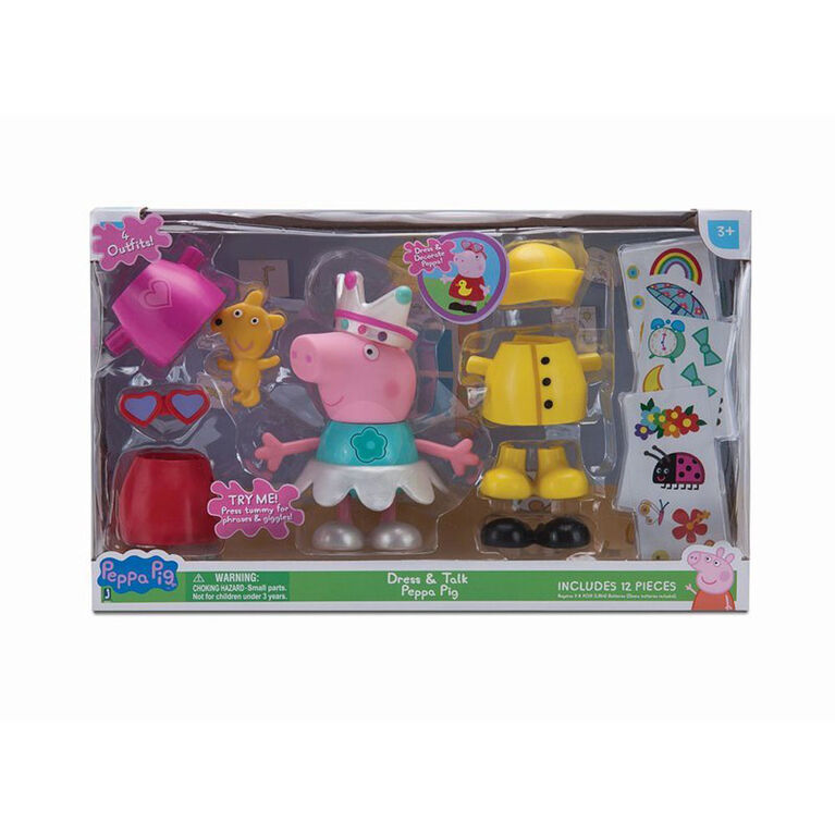PEPPA PIG - Large Figure -Talking Dress Up Peppa