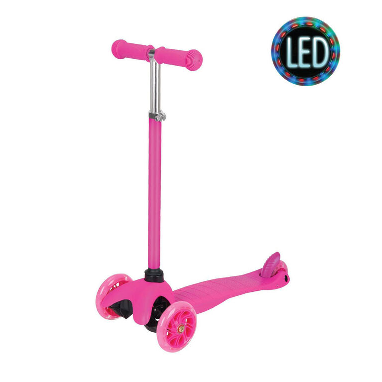 Rugged Racer Mini Scooter with Adjustable Height and LED Wheels