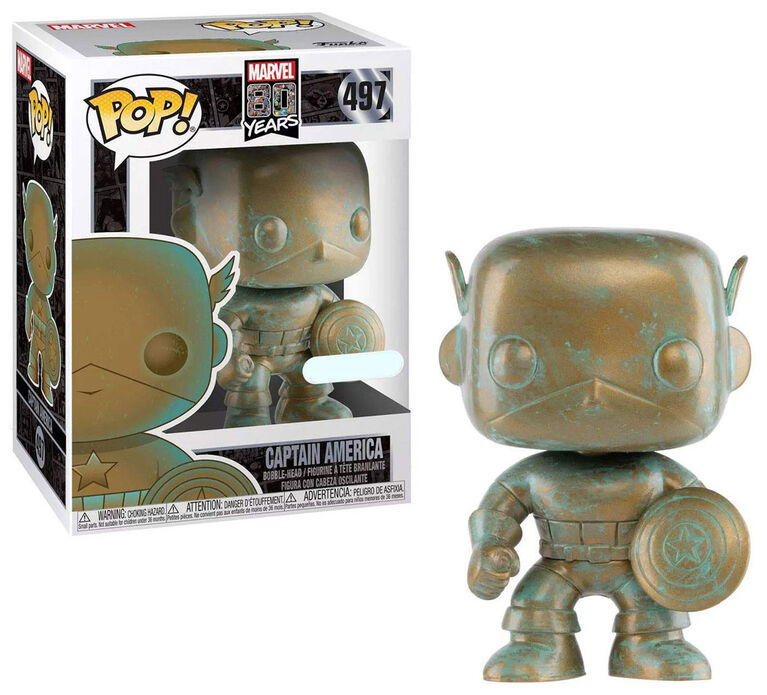 Figurine en Vinyle Captain America par Funko POP! Marvel 80th - Notre exclusivité