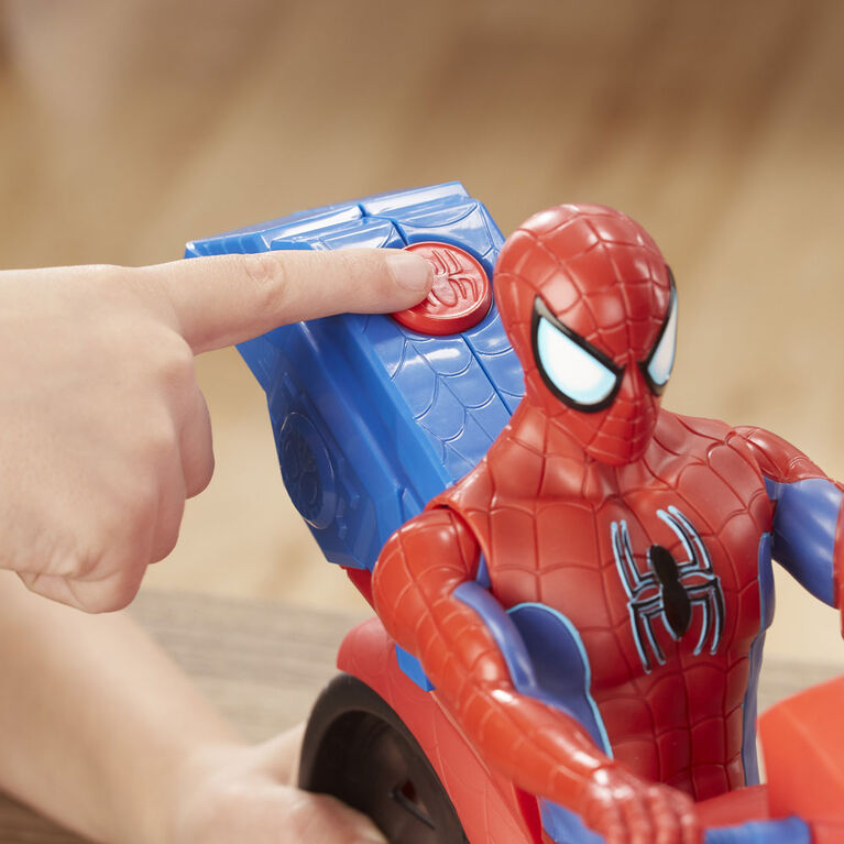 Spider-Man Titan Hero Series Spider-Man Figure with Power FX Cycle