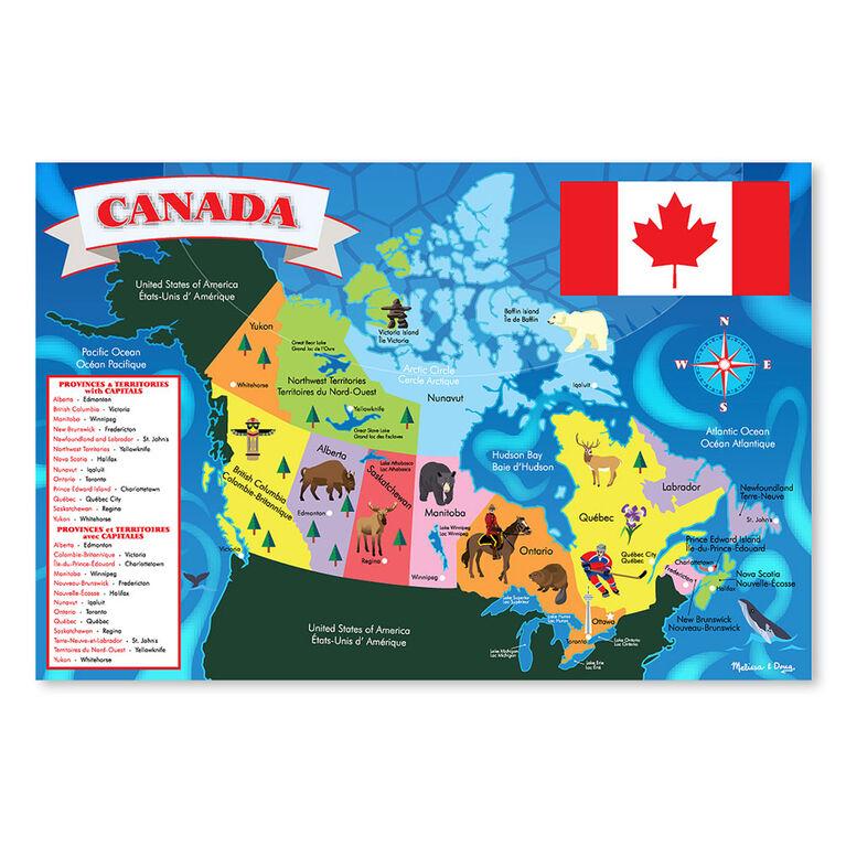 Melissa & Doug Canada Map Jumbo Jigsaw Floor Puzzle - 48 pieces - 60.96cm x 91.44cm