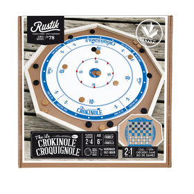 The Crokinole 2 in 1 Wooden Game