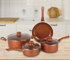 Brentwood Copper-Ceramic Coated 7 pc Cookware Set