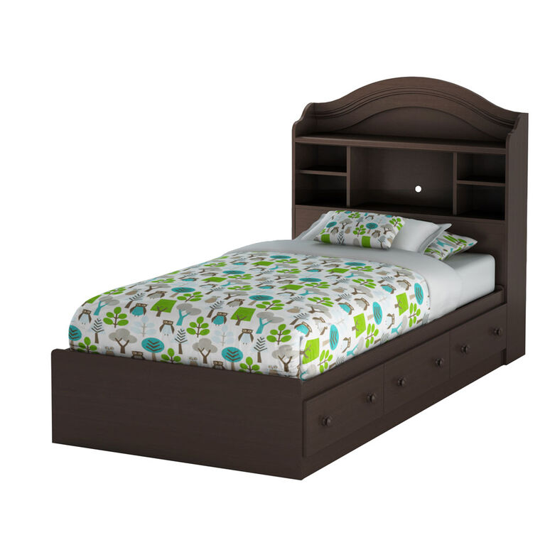 Savannah Mates Bed with 3 Drawers- Espresso
