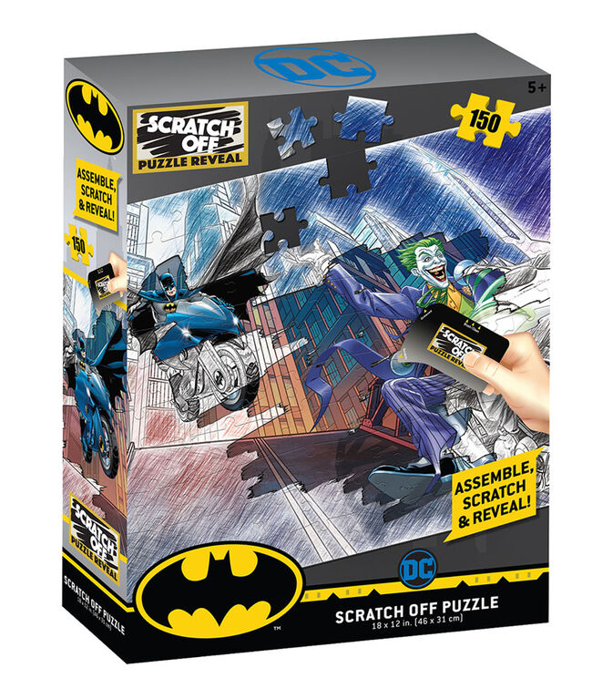 Scratch Off: DC Universe- Batman & Joker Scratch Puzzle 150pc