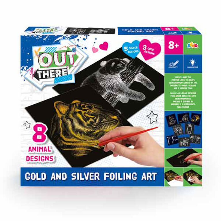 Out There Gold And Silver Foiling Art