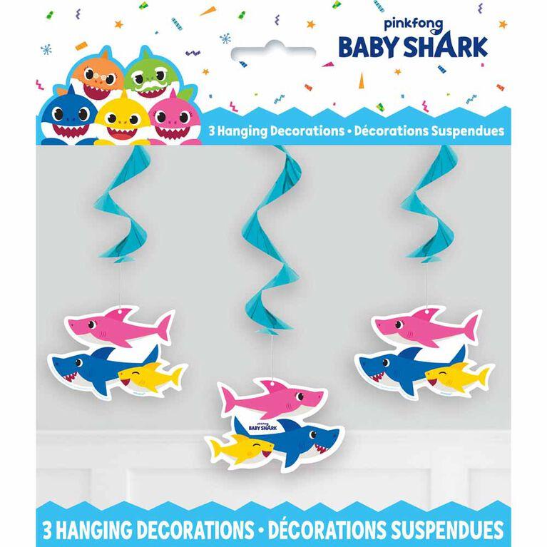 "Baby Shark Hanging Decor 26"" 3 pieces"