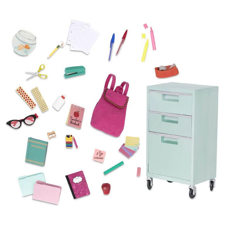 Our Generation, Elementary Class Playset, School Supplies Set for 18-inch Dolls