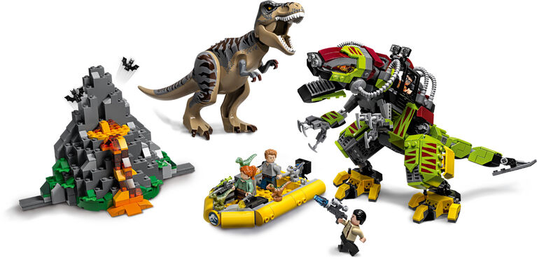 LEGO Jurassic World T rex vs Dino-Mech Battle 75938