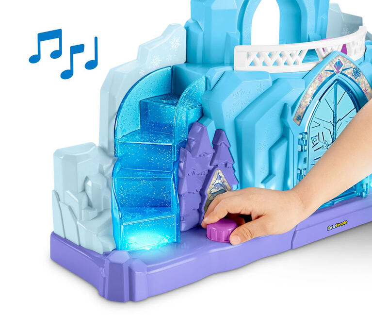 Disney - La Reine des Neiges - Le Palais de glace d'Elsa de Little People - Édition anglaise