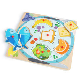 Imaginarium Discovery - 6 Piece Peg Puzzle Assortment - Lunch