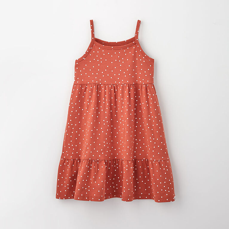 4-5 ans robe débardeur - imprimé rouille