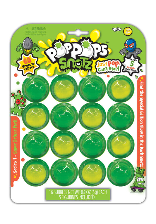 Yulu Pop Pops Snotz - Super Deluxe Pack - 16 pcs