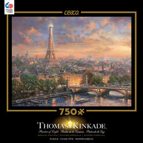 Thomas Kinkade 750 Piece Puzzle - Paris, City of Love.