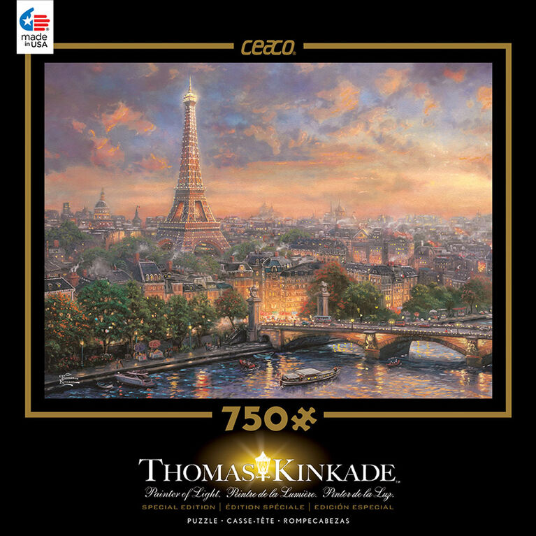 Thomas Kinkade 750 Piece Puzzle - Paris, City of Love
