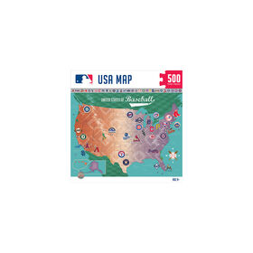 MLB Baseball Map 500 Piece Jigsaw Puzzle - English Edition