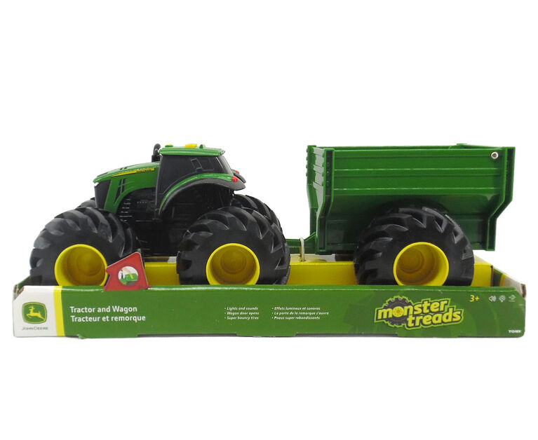 John Deere - Monster Treads Tractor with Wagon and Loader