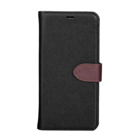 Blu Element 2 in 1 Folio Case for Samsung Galaxy S9+ Black/Brown (B21S9PBK)