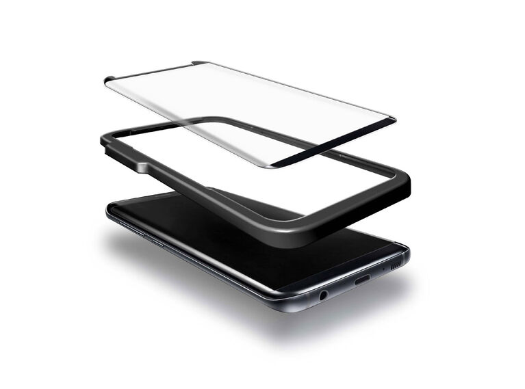 Blu Element 3D Curved Glass Case Friendly for Samsung Galaxy S9 Black (BTGS9CB)