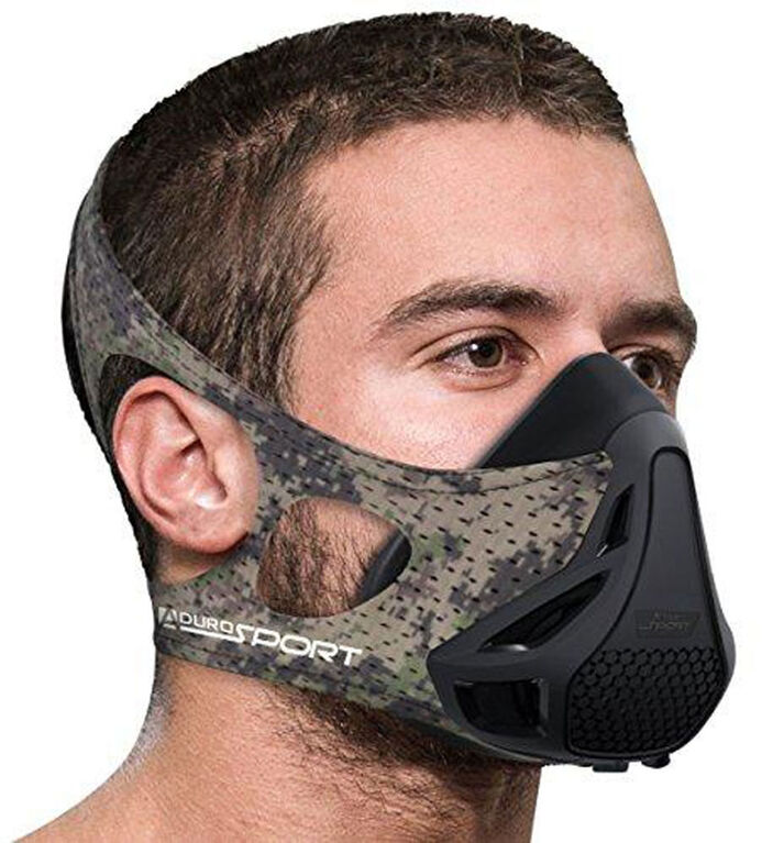 Aduro Sport Peak Resistance High Altitude Training Mask - Camouflage