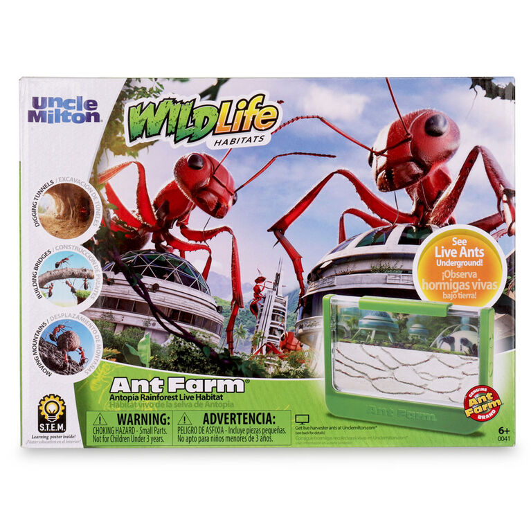 Uncle Milton Ant Farm Antopia Rainforest Ant Habitat