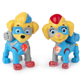 PAW Patrol, Mighty Pups Super PAWs, 2 figurines lumineuses Mighty Twins