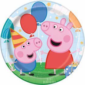 "Peppa Pig  9""  Plates, 8 pieces"