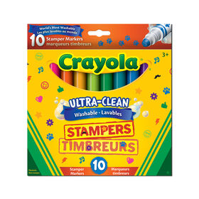 Crayola - 10 ct Ultra-Clean Washable Stamper Markers