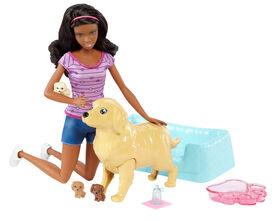 Barbie - Coffret de jeu Chiots nouveau-nés.
