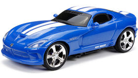 New Bright - Auto de sport radiocommandée 1/24 - Viper SRT - Bleu.