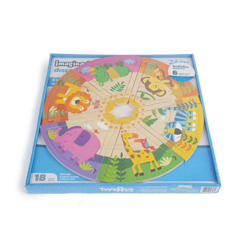 Imaginarium Discovery - 6 in 1 Jigsaw Puzzles