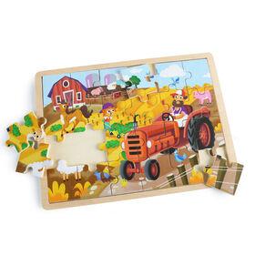 Imaginarium Discovery - Wooden Jigsaw Puzzle Assortment - Farm
