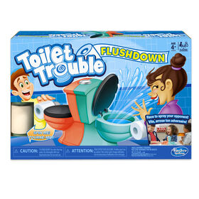 Hasbro Gaming Toilet Trouble Flushdown