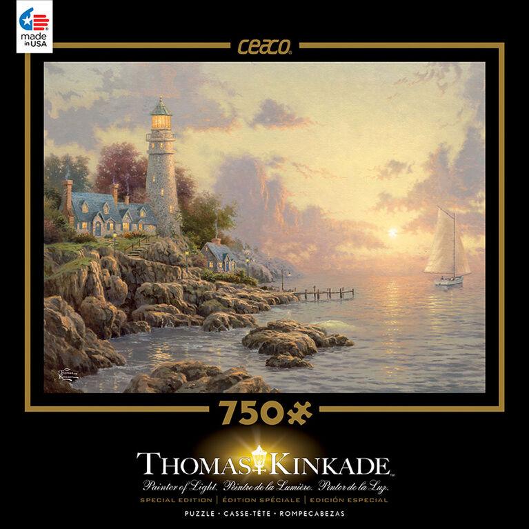 Thomas Kinkade 750 Piece Puzzle - The Sea of Tranquility