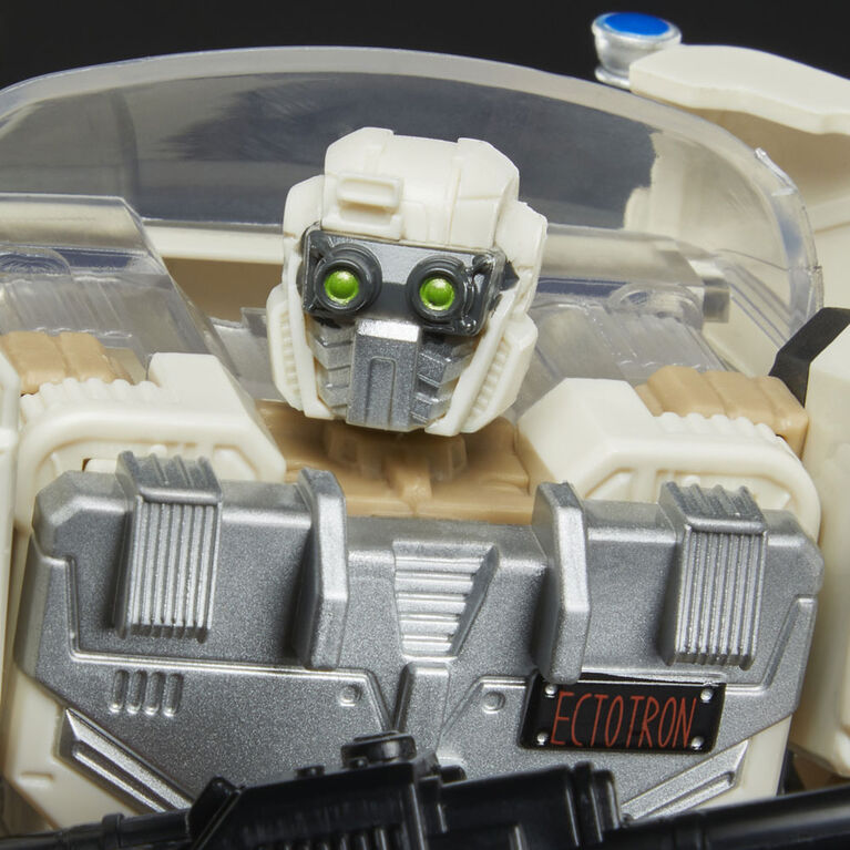 Transformers Collaborative Ghostbusters: Afterlife, Ecto-1 Ectotron Converting Figure with Comic Book - R Exclusive