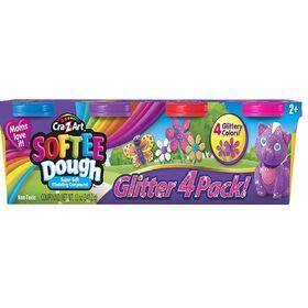 Cra-Z-Art - Softee Dough - 4 Pack Glitter